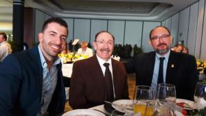 Carlos Rámirez y Ramiro Rámirez de PROLEA y Humberto Díaz de Purificadora La Noria
